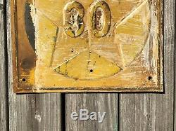 OLD ANTIQUE MINNESOTA HIGHWAY ROAD SIGN RARE STAR EMBOSSED STEEL METAL pre WWII