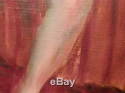 OLD ANTIQUe Listed Artist Fine ARt NUDE OIL PAINTING Ashcan School Style artwork