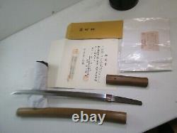 OLD JAPANESE SAMURAI wakisashi SWORD IN SHIRSAYA SIGNED WITH NBTHK PAPERS MINTY