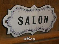OLD ORIGINAL 1800s BEAUTY SHOP HAIR SALON PORCELAIN SIGN VINTAGE ANTIQUE FRENCH