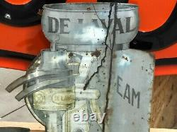 ORIGINAL Antique Early DELAVAL CREAM SEPARATOR Flange SIGN Farm DAIRY Ag COW Old