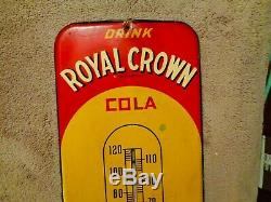 Old Antique 1940s RC Royal Crown Cola 26 Thermometer NEHI soda fountain sign