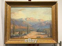 Old Antique Oil Painting California Plein Air Landscape Margaret Carlstedt