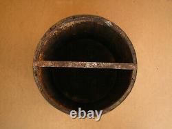Old Antique Primitive Wooden Wood Barrel Keg Royal Era Bucket Pot Marked 1929
