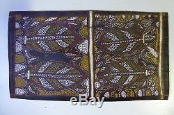 Old Australian Aboriginal Bark Painting Turtles