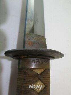 Old Blade Hizen Hirosada Signed Ww2 Japanese Samurai Katana Sword & Scabbard #k7