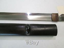 Old Blade Japanese Samurai Katana Sword Signed Kawachi No Kami Kunesuke #l36