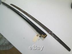 Old Blade Japanese Samurai Katana Sword Signed Yoshimune Active Temper Line#z369