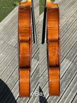 Old French Violin labelled'' COLLIN MEZIN'' signed 1932 excellent condition
