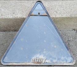Old French enamel street sign road warning school crossing children pupils 1966