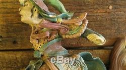 Old Handmade Real Chinese Roof Tiles, warrior on Koy Fish Chinese
