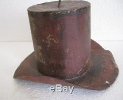 19070b47f0b214 Old Iron Hat Trade Sign Store Display, Red Hat. Hats For Sale