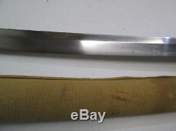 Old Japanese Samurai Wakisashi Sword Wi Scabbard Signed Moritsug Old Mounts #l54