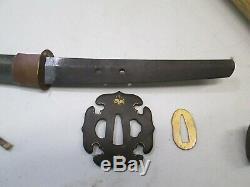 Old Katana Japanese Samurai Sword Signed Tachi With Scabbard 32 Long Blade #c7