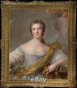 Old Master-Art Antique Oil Painting Portrait noblewoman girl on canvas 30x40