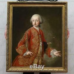 Old Master-Art Antique Oil Painting Portrait small emperor on canvas 30x40
