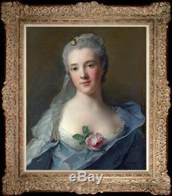 Old Master-Art Antique portrait oil Painting noblewoman on canvas 20x24