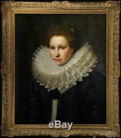 Old Master-Art Portrait Antique Oil Painting Portrait Noblewoman on canvas