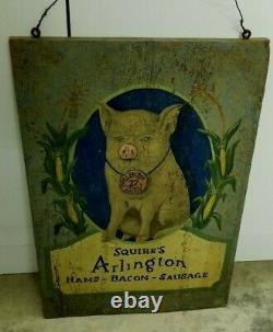 Old Primitive Store Pig Sign