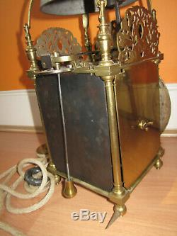 Old Signed Brass Single Hand Lantern Clock with Hook and Spike c1690