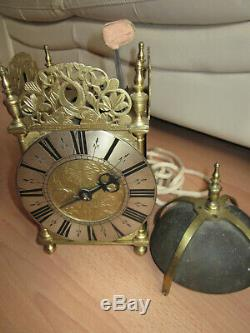 Old Signed Lantern Clock Hook and Spike with Single Hand