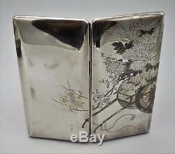 Old Sterling Silver 950, Japanese Large Cigarette Case, Artist Signed