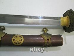 Old Tachi Japanese Samurai Katana Sword & Scabbard Signed Kanesaki Long Blade