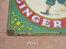 Old Vintage Antique Enamel Shop Sign Huntley and Palmers Biscuits
