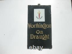 Old Vintage Antique Enamel Sign Pub Advert Worthington Brewery Slate Bottle Jug