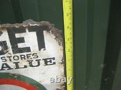 Old Vintage Antique Enamel Sign Shop Advert Worcester Clothes Store