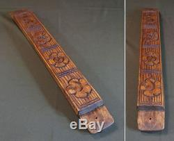 Old Vintage Extra Large Korean Rice Cake Wooden Mold Stamp Signed