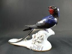 Old porcelain figurine rosenthal bird signed karner