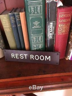 Original Old 1940s Bakelite Sign REST ROOM