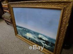Original Old Antique Oil painting Framed Victorian Artist Allan Broadbent 1901