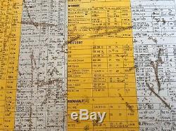 Original Old Vintage Michelin Metal Rusted Sign Car Garage Tyre Pressure Chart