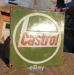 Original Rare 1920's Old Antique Vintage Castrol Ad. Porcelain Enamel Sign Board