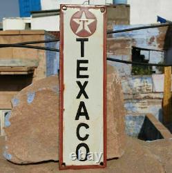 Original Rare 1930's Old Antique Vintage Texaco Ad. Porcelain Enamel Sign Board