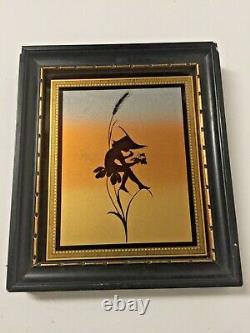 Pair Antique Old Art Nouveau 1930s Signed K DIEFENBACH Fairy Pixie Silhouette