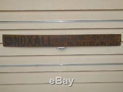 RARE 19th C OLD NOXALL OVERALLS, PANTS & SHIRTS WOOD TRADE SIGN VINTAGE ANTIQUE