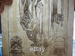 RARE Albrecht Durer Antique German Woodcut Print Old Master German