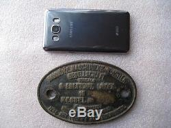 RARE Antique Old Brass German Boiler Plate Sign From a Steam Locomotive 1910's