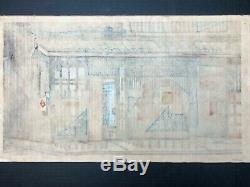 RARE Clifton Karhu Original Woodblock Old House In Kyoto'69 Pencil Signed 41/50