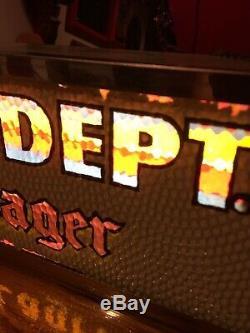 ROG Antique Old Style Lager Beer Motion Light Beverage Dept Color Sign