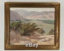 Ralph Love Antique Early Work California Yucaipa Lake Old Plein Air Oil Painting