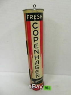 Rare Antique Vintage Copenhagen Chewing Tobacco Dispenser Sign Old Snuff Display