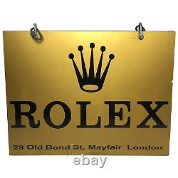 Rare Gold Rolex Watches Shop Wall Swinging Sign Old Bond Street Mayfair London