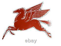 Rare! Original 1953 Mobil Pegasus Sign Petroleum Porcelain Free S/h Antique Old