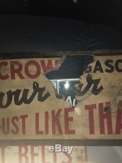 Red Crown Gasoline Advertisement Antique Old Vintage 1920s