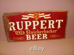 Ruppert Old Knickerbocker Beer Vintage Beer Sign Antique