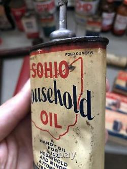 SOHIO HOUSEHOLD OIL LEAD TOP HANDY OILER Rare Old Advertising Can Standard Ohio